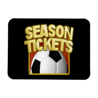 Soccer Season Tickets Rectangular Photo Magnet
