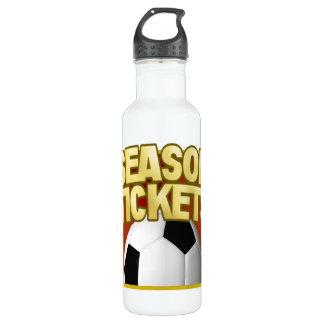Soccer Season Tickets Stainless Steel Water Bottle