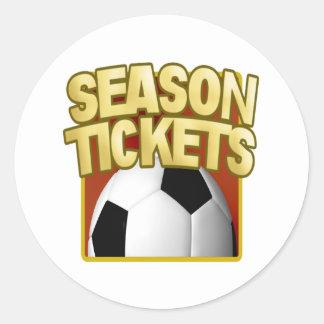 Soccer Season Tickets Round Sticker