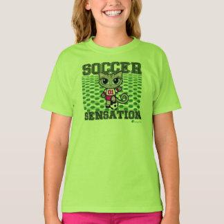 Soccer Sensation Cute Cat T-shirt by Cheeky Chats