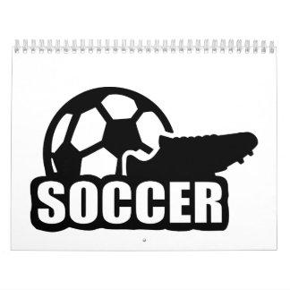 Soccer shoe ball calendar