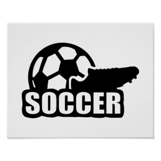 Soccer shoe ball poster