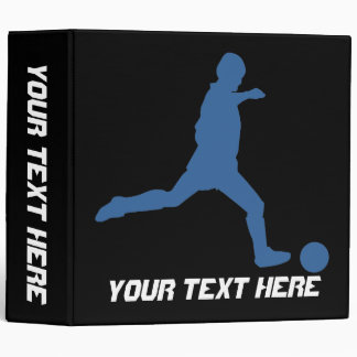 Soccer Silhouette Avery Binder