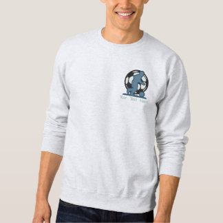 Soccer Silhouette Embroidered Sweatshirt
