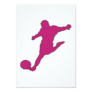 "Soccer Silhouette 5"" X 7"" Invitation Card"