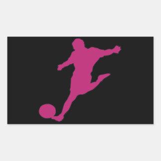 Soccer Silhouette Rectangular Sticker