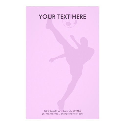 soccer silhouette stationery