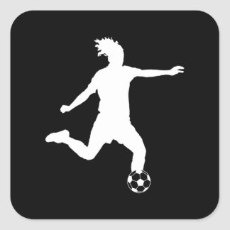 Soccer Silhouette Sticker Black