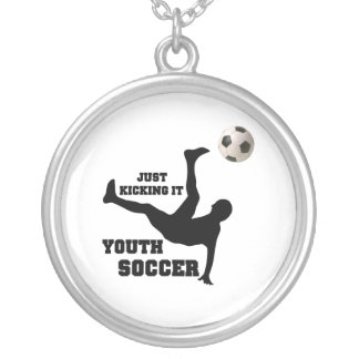 Soccer Silver Plated Necklace
