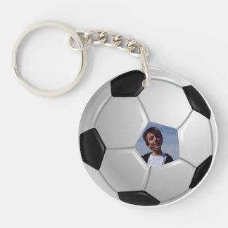 Soccer Single-Sided Round Acrylic Keychain