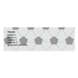 Soccer - Skinny Double-Sided Mini Business Cards (Pack Of 20)