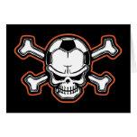 Soccer Skull Greeting Card