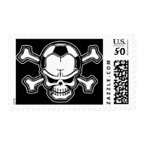 Soccer Skull Postage
