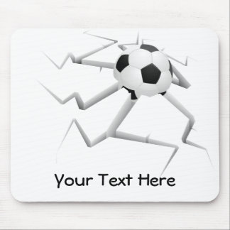 Soccer Smash (customizable) Mouse Pad