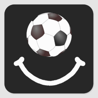 Soccer Smile Square Sticker
