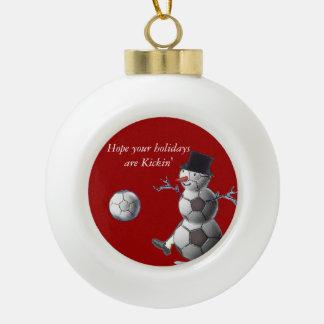 Soccer Snowman Ornaments