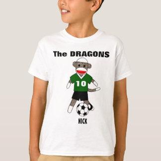 Soccer Sock Monkey T-Shirt (green) - Customized
