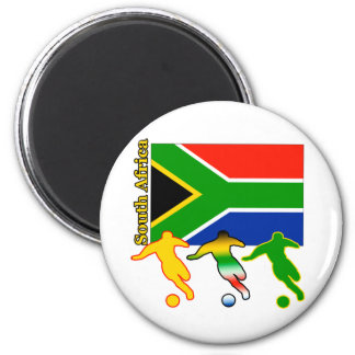 Soccer South Africa 2 Inch Round Magnet