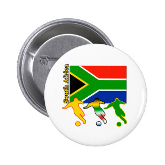 Soccer South Africa 2 Inch Round Button