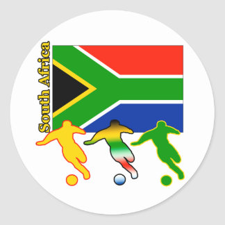 Soccer South Africa Classic Round Sticker
