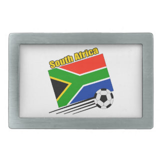 Soccer South Africa Rectangular Belt Buckle
