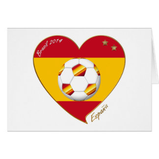 """SOCCER """"SPAIN"""" Spain Spanish Football Soccer Team Card"""