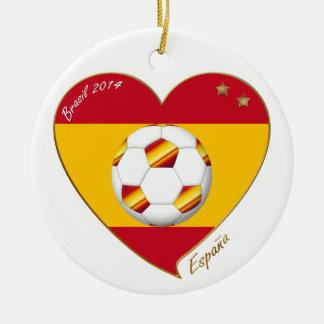 "SOCCER ""SPAIN"" Spain Spanish Football Soccer Team Ceramic Ornament"