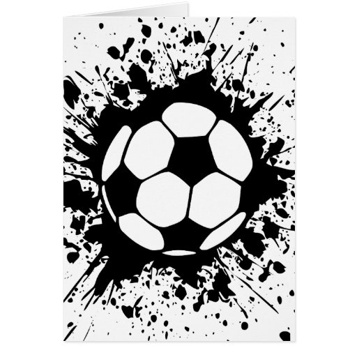 soccer splat. card