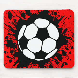 soccer splat mouse pad