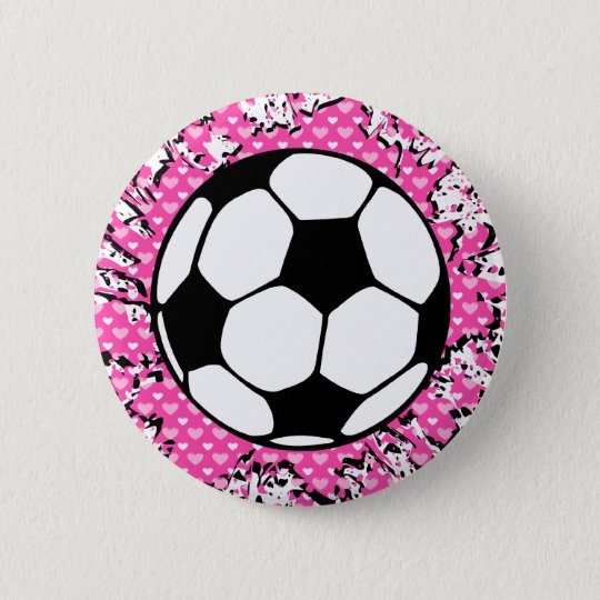soccer splat. pinback button