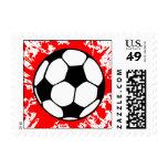 soccer splat. postage stamp