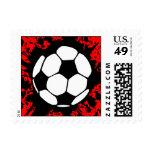 soccer splat. postage stamps