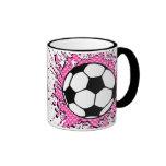 soccer splat. ringer mug