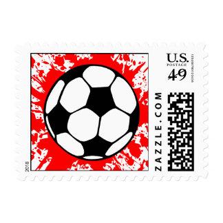 soccer splat. stamp