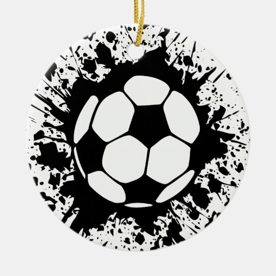soccer splatz ceramic ornament