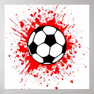 soccer splatz poster