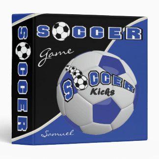 Soccer Sport Game | Dark Blue | DIY Name Vinyl Binders