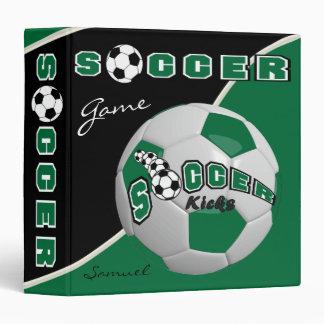 Soccer Sport Game | Dark Green | DIY Name Vinyl Binder