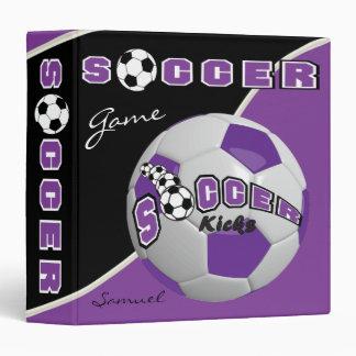 Soccer Sport Game | Purple | DIY Name Vinyl Binders