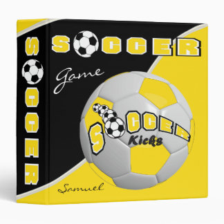 Soccer Sport Game | Yellow | DIY Name Vinyl Binders
