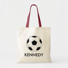 Soccer Sports Bag at Zazzle