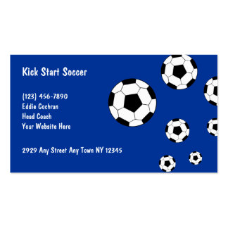 Soccer Sports Business Cards