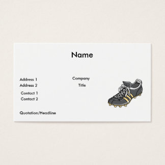 soccer sports cleat business card