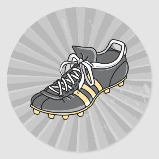 soccer sports cleat classic round sticker