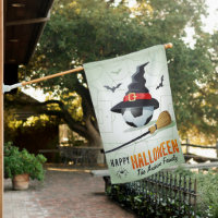 Soccer Sports Happy Halloween Personalized Name House Flag