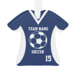 Soccer Sports Jersey Blue with Photo Ornament
