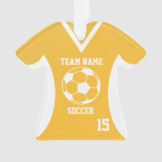 Soccer Sports Jersey Gold with Photo Ornament