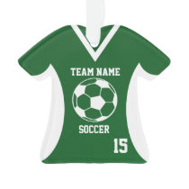 Soccer Sports Jersey Green with Photo Ornament