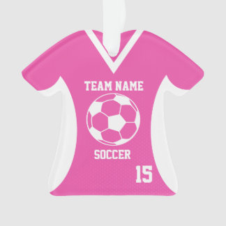 Soccer Sports Jersey Pink with Photo Ornament