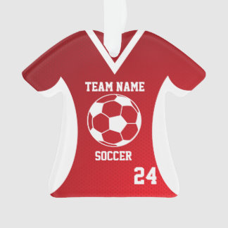 Soccer Sports Jersey Red with Photo